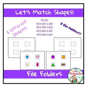 Let's Match Shapes! File Folder