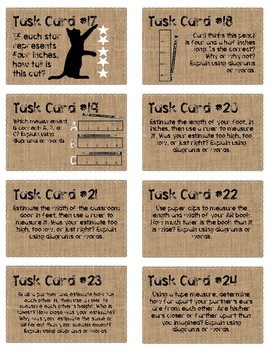 Let's Measure! Task Cards #1-40