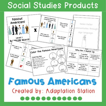 Let's Meet the Famous Americans-An Adapted Unit (VAAP!)