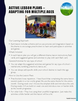 Let's Move Active Lesson Plan - Pre-K to 2nd Grade