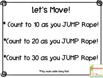 Let's Move Activity Movement Cards