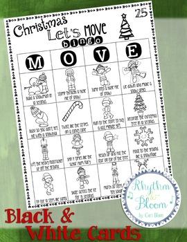 Let's Move! Christmas Bingo