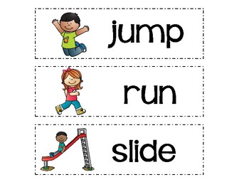 Let's Move! Word Wall Words
