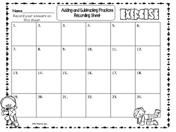 Let's Move with Adding and Subtracting Fractions!