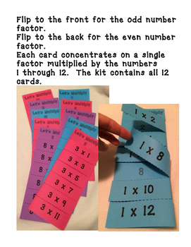 Let's Multiply: Multiplication Fact Flip Charts (Self Checking) REVERSIBLE