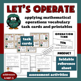Let's Operate: vocabulary of mathematical operations task