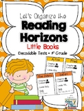 Let's Organize the Reading Horizons Little Books