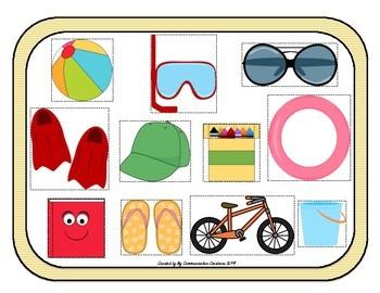 Let's Pack! Oral Language Pronoun Activity {SLP}