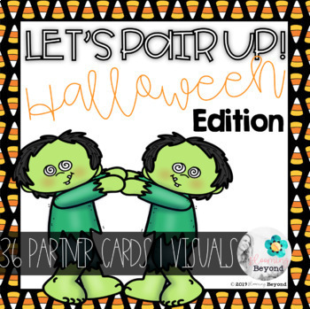 Let's Pair Up! Partner Cards | Halloween Edition