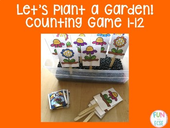 Let's Plant a Garden! Counting Game 1-12 Freebie