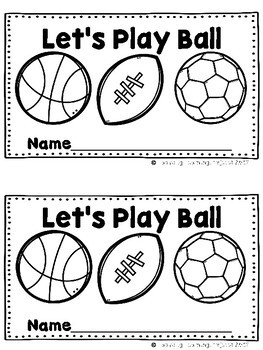 Let's Play Ball  (A Sight Word Emergent and Teacher Lap Book)