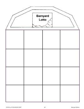 Let's Play Barnyard Lotto