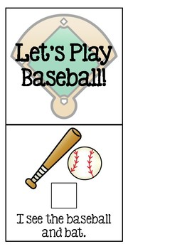 Let's Play Baseball! - Adapted Book for Special Education or Early Childhood