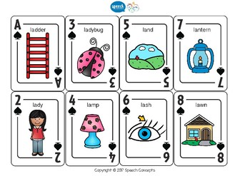 Let's Play Cards : L Initial