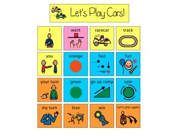 Let's Play Cars Communication Board