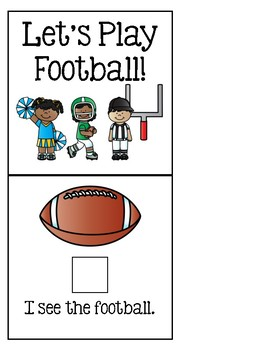 Let's Play Football! - Adapted Book for Special Education