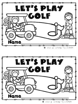 Let's Play Golf - Emergent Reader {Ladybug Learning Projects}