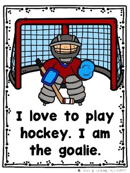Let's Play Hockey  (A Sight Word Emergent Reader and Teacher Lap Book)