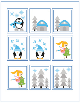 Let's Play Memory! One Set of Memory Cards for Each Season of the Year