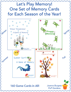 Let's Play Memory! One Set of Memory Cards for Each Season