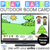 Outside Themed Play Based BOOM Card for Preschool Speech and Language Therapy