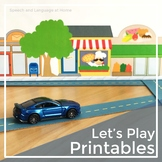 Preschool Activities: Let's Play Printables for Speech and Language