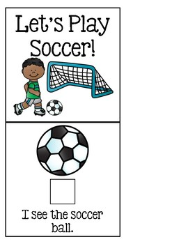 Let's Play Soccer! - Adapted Book for Special Education or