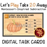 Let's Play Take 20 Away  |   Google Slides Subtraction Tas