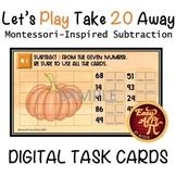 Let's Play Take 20 Away      Google Slides Subtraction Tas