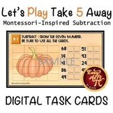 Let's Play Take 5 Away  |   Google Slides Subtraction Task