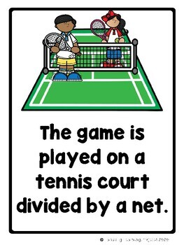 Let's Play Tennis - Emergent Reader {Ladybug Learning Projects}