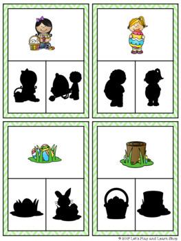 It's Easter time! Let's Clip Shadows! (Preschool)
