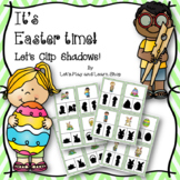 It's Easter time! Let's Clip Shadows! (Preschool)