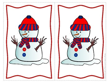 Let's Play With Snowmen in Winter Multi Activity Preschool Pack