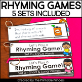 Rhyming Game | For Whole Group or Small Group