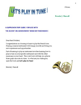 Let's Play in Tune, French horn