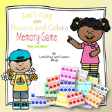 Let's Play with Flowers and Colors Memory Game