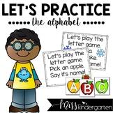 Alphabet Practice Poems (uppercase letter cards)