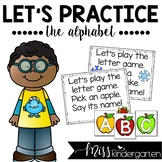 Alphabet Practice Poems (uppercase letter cards)