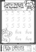 Let's Print Numbers 1 to 10 worksheets in Queensland Beginners Font for Prep