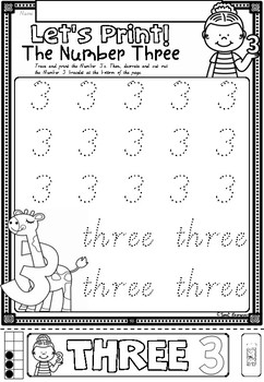 Let's Print Numbers 1 to 10 worksheets in Victorian Cursive Font