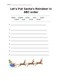 Let's Put Santa's Reindeer in ABC order