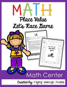 Let's Race: Place Value Game {Math Center}