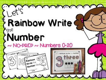 Let's Rainbow write number book ~ NO-PREP