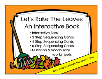 Let's Rake The Leaves Interactive Book With Companion Activities