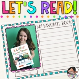 Let's Read | Book Review Project | Includes Google Slides™ Option