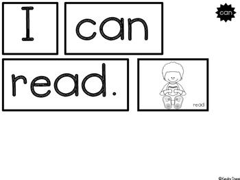Let's Read! {Pocket Chart Sentences}