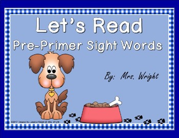 Let's Read Pre-Primer Sight Words