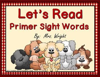 Let's Read Primer Sight Words