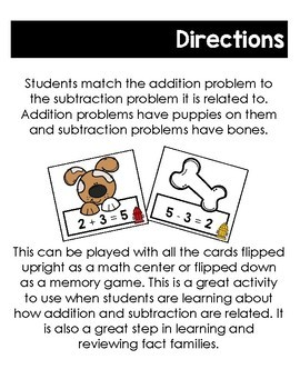 Let's Relate: Addition and Subtraction